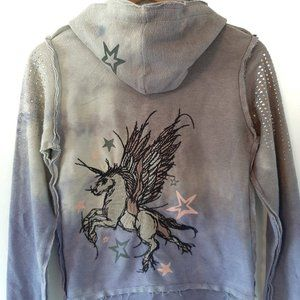 RARE JNCO Embroidered Pegasus/Unicorn Hoodie Small